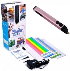 3D-ручка 3Doodler Create для профессионального использования, розовый металлик (3DOOD-CRE-ROSE-EU)