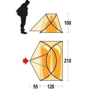 размеры палатки Ferrino Pilier 2