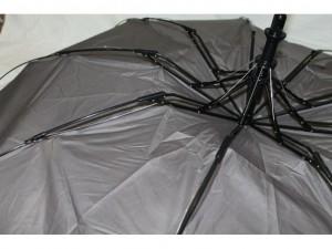фото Зонт полуавтомат в 3 сложения с проявкой (антиветер) (мятный) #7