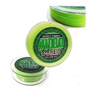 Шнур DAM MADCAT 8-BRAID 270м 0,80мм 79,3кг/175Lb (green) (3803080)
