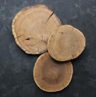 Подарок Дубовый срез без коры (17-19 см)