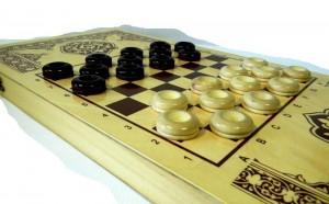 фото Нарды+шашки+шахматы (3 в 1) дерево (40х40 см) (NS-2013) #5