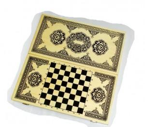 фото Нарды+шашки+шахматы (3 в 1) дерево (40х40 см) (NS-2013) #4