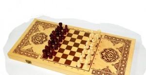фото Нарды+шашки+шахматы (3 в 1) дерево (40х40 см) (NS-2013) #2