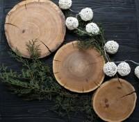 Подарок Дубовый срез без коры (20-22 см)