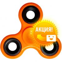 Подарок Спиннер с утяжелителем на подшипнике, оранжевый