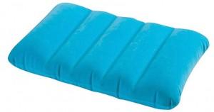 Надувная подушка Intex голубая (68676-г)