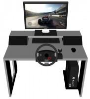 Компьютерный стол со встроенной акустической системой VidLine Metallic Silver