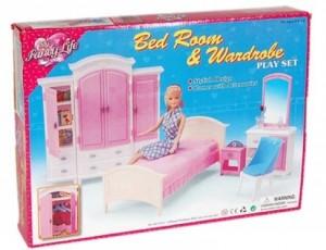 мебель для кукол Gloria спальня и гардероб 24014 Gloria 24014