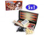 Шахматы магнитные`5 в1` (9841A)