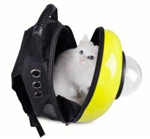 фото Рюкзак-переноска для животных CosmoPet с иллюминатором, металлик #3