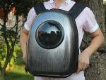 фото Рюкзак-переноска для животных CosmoPet с иллюминатором, металлик #7
