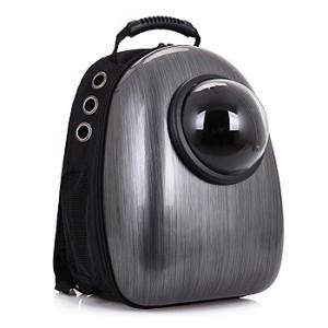 Рюкзак-переноска для животных CosmoPet с иллюминатором, металлик