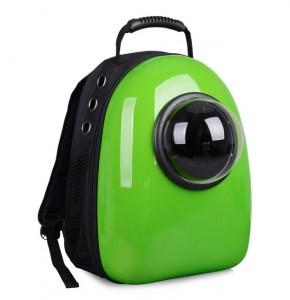фото Рюкзак-переноска для животных CosmoPet с иллюминатором, зеленый #4