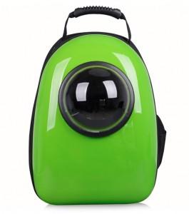 фото Рюкзак-переноска для животных CosmoPet с иллюминатором, зеленый #5