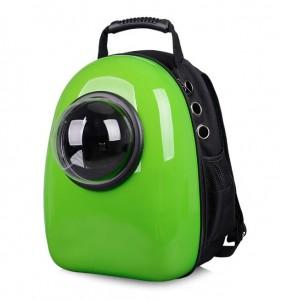 фото Рюкзак-переноска для животных CosmoPet с иллюминатором, зеленый #7