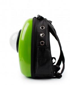 фото Рюкзак-переноска для животных CosmoPet с иллюминатором, зеленый #3