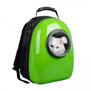 фото Рюкзак-переноска для животных CosmoPet с иллюминатором, зеленый #6