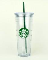 Подарок Тамблер Starbucks 0111050499 'Cold-to-Go' Clear, 710 мл