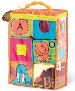 фото Развивающие мягкие кубики-сортеры ABC Battat (BX1477Z) #3