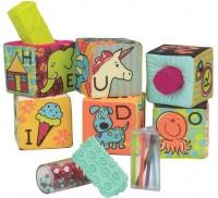 Развивающие мягкие кубики-сортеры ABC Battat (BX1477Z)