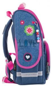 фото Рюкзак каркасный Smart 'Jeans butterfly' PG-11, розовый, синий (553343) #3