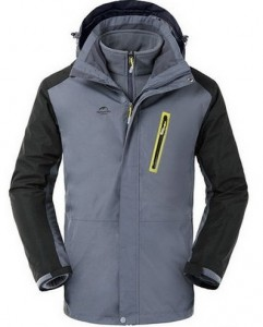 Трекинговая куртка NatureHike 3 в 1 'Stone Grey XXL' (NH16F001-M)