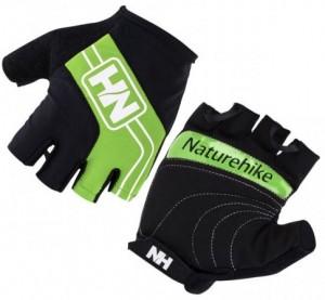 Велоперчатки без пальцев NatureHike 'Cycling Half Green L' (NH23S011-T)