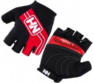 Велоперчатки без пальцев NatureHike 'Cycling Half Red M' (NH23S011-T)