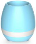 Подарок Bluetooth колонка-ночник 'Цветочный горшок', голубая