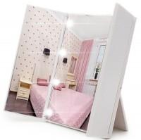 Подарок LED Зеркало для макияжа в виде книжечки (белое)