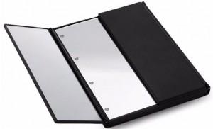 Подарок LED Зеркало для макияжа в виде книжечки (черное)