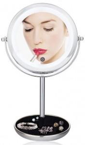 Подарок Двойное зеркало для макияжа с LED подсветкой 5X