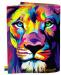 фото Обложка на паспорт 'Цветной Лев' (Эко-Кожа) #2