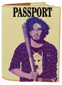 Подарок Обложка на паспорт 'Джон Сноу Арт' (Эко-Кожа)