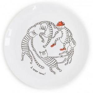 Подарок Тарілка 'Танцюючі коти'