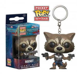 фигурка Брелок Pocket POP! Keychain: Marvel Guardians O/T Galaxy 2: Rocket (13217)