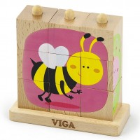 Пазл-пирамидка Viga Toys 'Насекомые' (50158)
