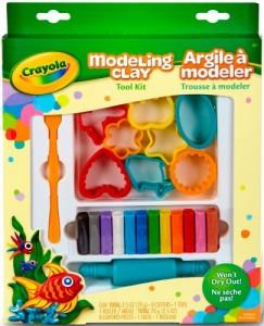 Не засыхающий пластилин с формочками Crayola '12 цветов' (57-0320)