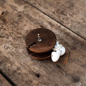 Подарок Деревянный аксессуар 'Катушка для наушников'