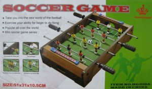 фото Настольный деревянный футбол на штангах  (HG235A) #2