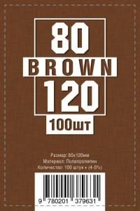 Протекторы для карт 100 шт (80 х 120 мм)