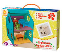 Дерев'яний ігровий будиночок-конструктор (90447)