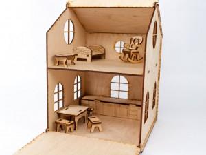 фото Дерев'яний ігровий будиночок-конструктор (90447) #2