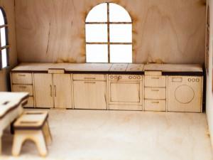 фото Дерев'яний ігровий будиночок-конструктор (90447) #4