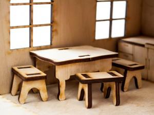 фото Дерев'яний ігровий будиночок-конструктор (90447) #3