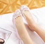 Подарок Кружевные тапочки носочки (Белые)