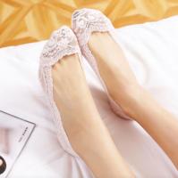 Подарок Кружевные тапочки носочки (Пудровый)