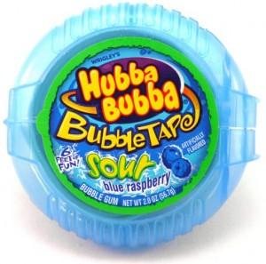 Подарок Жевательная резинка Hubba Bubba Bubble Tape 'Sour Blue Raspberry'
