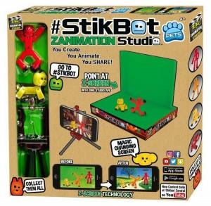 Игровой набор для анимационного творчества Stikbot 'Студия Z-Screen' (2 эксклюзивеные фигурки, штатив, сцена) (TST617A)